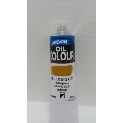 Derivan Oil Colour Yellow Oxide 40ml