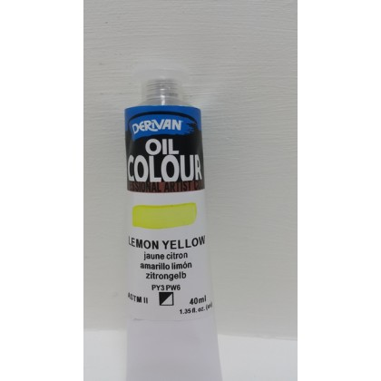 Derivan Oil Colour Lemon Yellow 40 ml