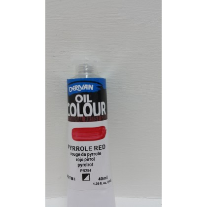 Derivan Oil Colour Pyrrole Red 40ml