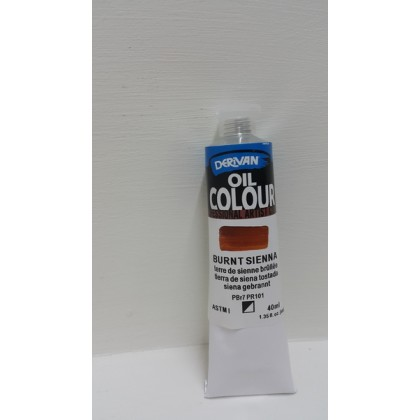 Derivan Oil Colour Burnt Sienna 40ml