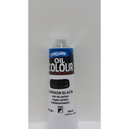 Derivan Oil Colour Carbon Black 40ml