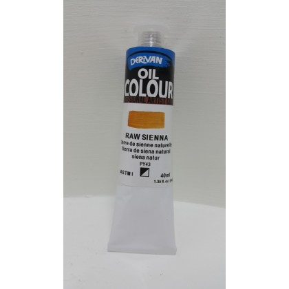 Derivan Oil Colour Raw Sienna 40ml