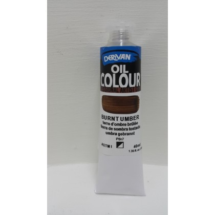 Derivan Oil Colour Burnt Umber 40ml