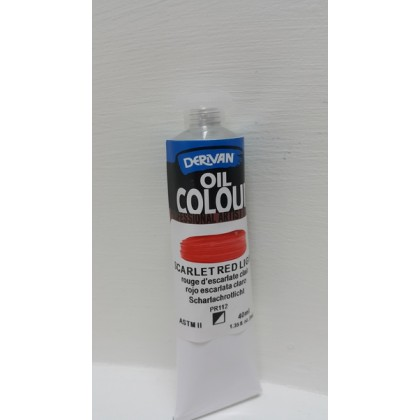 Derivan Oil Colour Scarlet Red Light 40ml