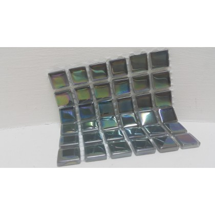 Crystal Glass Light Grey 15x15x4mm