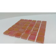 Crystal Glass Tangerine 15x15x4mm
