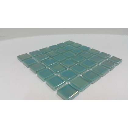 Crystal Glass Sea Green 15x15x4mm