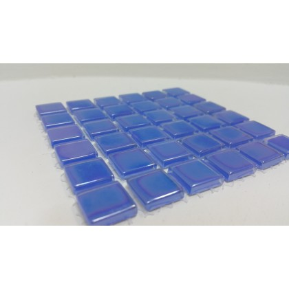 Crystal Glass Royal Blue15x15x4mm