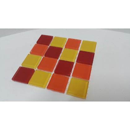 Crystal Glass Summer Fruit Mix 23x23x4mm