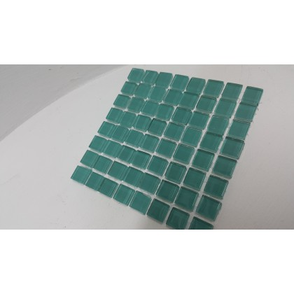 Crystal Glass Sea Green 10x10x4mm