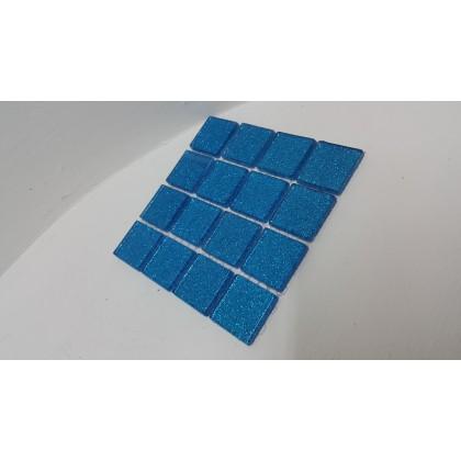Glitter Glass Midnight Blue  23x23x4mm
