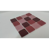 Burgandy Mix 23x23x4mm