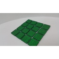 Glitter Glass Dark Green 23x23x4mm