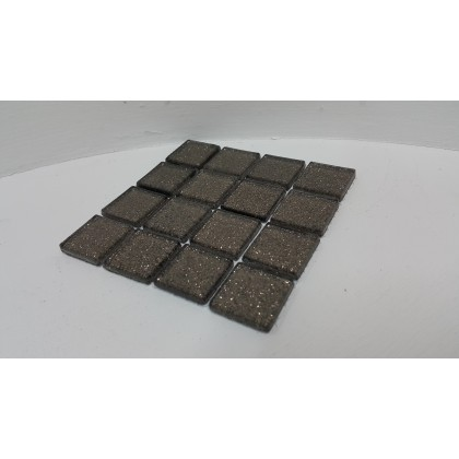 Glitter Glass Brown 23x23x4mm
