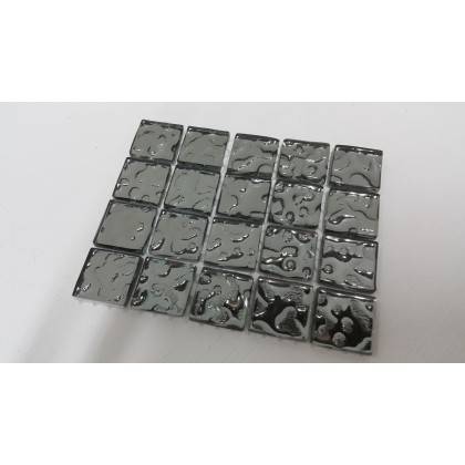 Luster Glass Silver 20x20x4mm