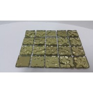 Luster Glass Gold 20x20x4mm