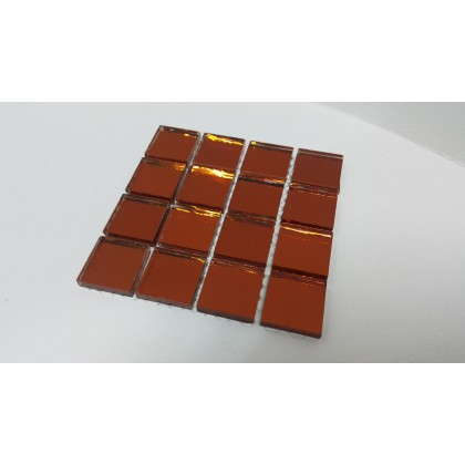 Mirror Mosaic Red 23x23x4mm