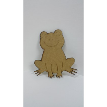 Wooden Cutout Frog