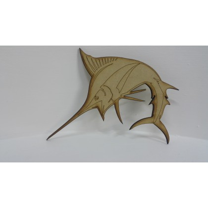Wooden Cutout Sword Fish