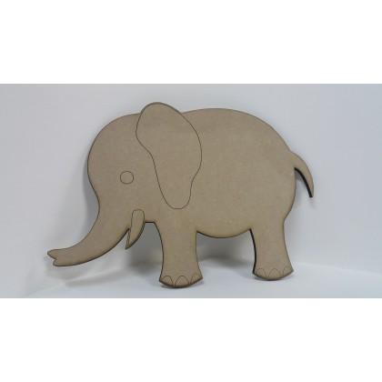 Wooden Cutout Elephant 35 x 24cm