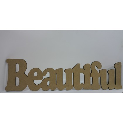 Wooden Cutout Beautiful 56 cm