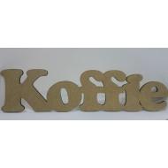 Wooden Cutout Koffie 54 cm