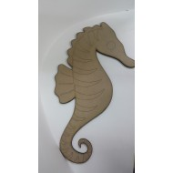 Wooden Cutout Large Sea Horse 56cm