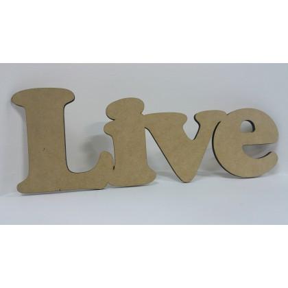Wooden Cutout Live 36cm