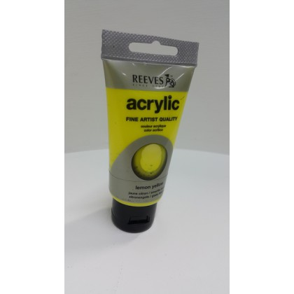 Reeves Acrylic Paints Lemon Yellow 75 ml