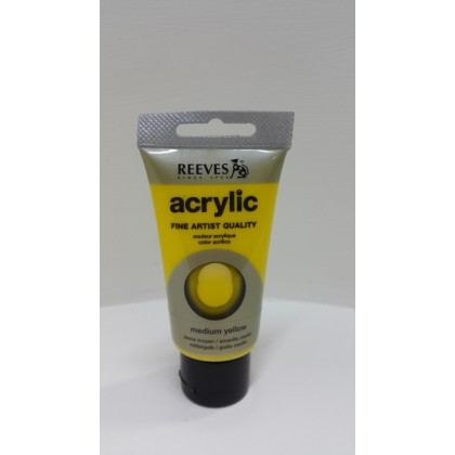 Reeves Acrylic Paints Medium Yellow 75 ml