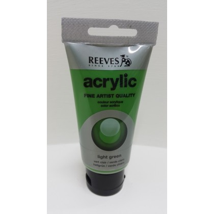 Reeves Acrylic Paints Light Green 75ml