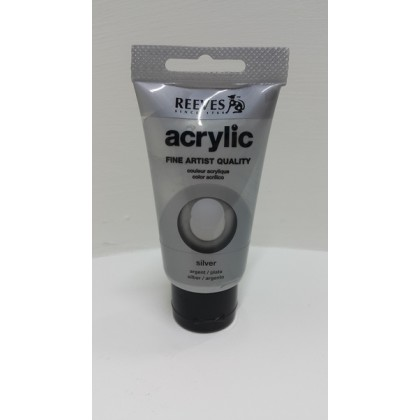 Reeves Acrylic Paint Silver 75ml