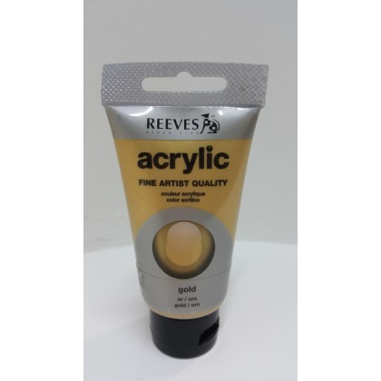 Reeves Acrylic Paints Gold 75ml