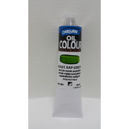 Derivan Oil Colour Aust. Sap Green 40ml