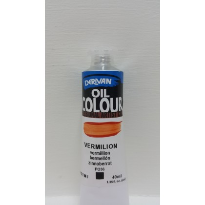 Derivan Oil Colour Vermilion 40ml
