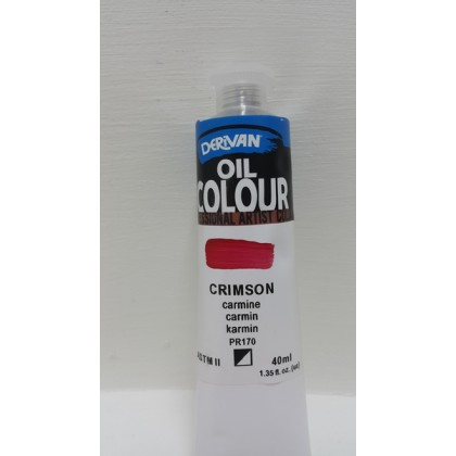 Derivan Oil Colour Crimson 40ml