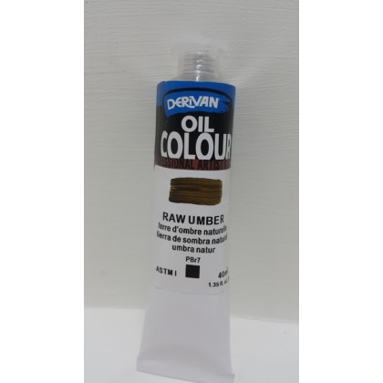 Derivan oil Colour Raw Umber 40ml