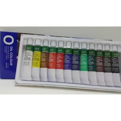 Basics Oil Colour 12 Tubes 12ml