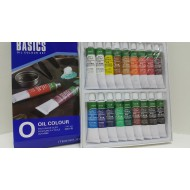 Basics Oil Colour 18 Tubes 12 ml