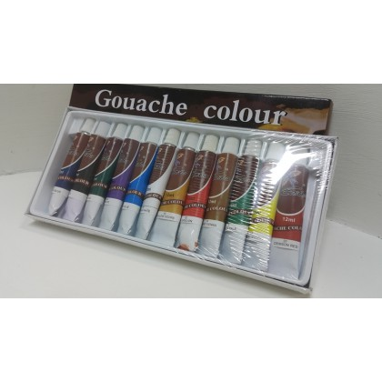 Kaibo Gouache Colour 12 Tubes 12ml