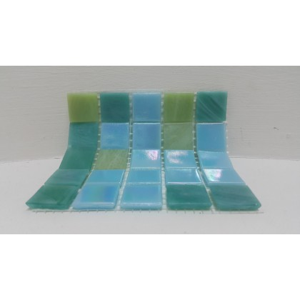 River Mix Aqua Green 18x18x4mm