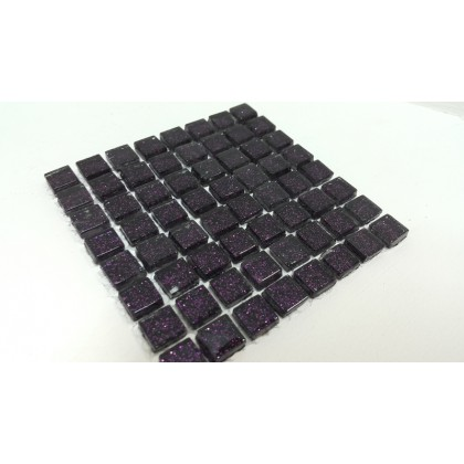 Glitter Purple 10x10x4mm