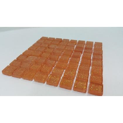 Glitter Tangerine 10x10x4mm