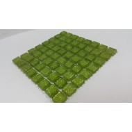 Glitter Lime Green 10x10x4mm